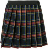P.A.R.O.S.H. plaid pleated mini skirt - women - Spandex/Elastane/Virgin Wool - XS