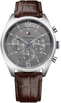 Tommy Hilfiger Mens Multifunction Ss Rou Case Gre Dial Brn Le S
