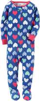 Carter's Girls' 12 Months-5T Multi Heart Print One Piece Cotton Pajamas