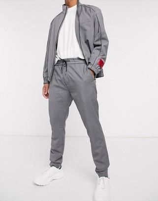HUGO BOSS Zennet202 drawstring pinstripe trousers in grey