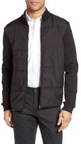 BOSS Men's Shepherd Woven Front Zip Front Fleece Jacket