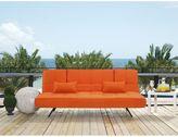 Serta Dream Convertibles Copa Sofa in Tangerine