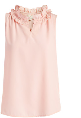 Très Jolie Women's Blouses Blush - Blush Notch Neck Top - Women