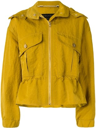 Escada Drawstring-Waist Hooded Jacket