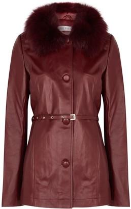 Saks Potts Cholet Fur-trimmed Leather Jacket