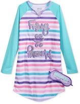 Sleep On It 2-Pc. Friday Vs. Monday Nightgown & Eye Shade Set, Little Girls (2-6X) or Big Girls (7-16)