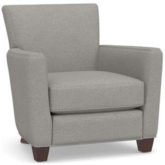Pottery Barn Irving Square Arm Upholstered Recliner with Nailheads