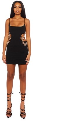 Public Desire Uk Cami Mini Dress with Cut Out and Chain Details