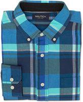 Nautica Men's Poolside Plaid Long-Sleeve Shirt