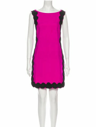 Marchesa Silk Mini Dress Pink
