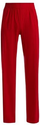Norma Kamali Side Stripe Boyfriend Track Pants - Womens - Red