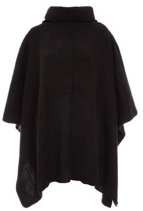 Dorothy Perkins Womens *Quiz Black Polo Neck Knitted Poncho, Black