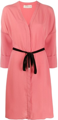 Blanca Vita Adele tie-waist shirt dress