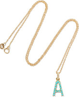 Jennifer Meyer 18-karat Gold, Diamond And Turquoise Necklace - C