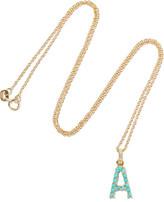 Jennifer Meyer 18-karat Gold, Diamond And Turquoise Necklace - U