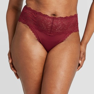 Women's Plus Size Micro Thong with Lace Waistband - AudenTM