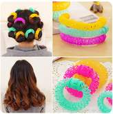 Lovef Jewelry Lovef 6pcs/8Pcs Magic Doughnut Donut Sticks Rollers Circle Spiral Plastic Hair Curly Curler Curl Roll Ringlets Wave Hairdressing Care Hairstyle Maker Styling Tool DIY Salon Accessory