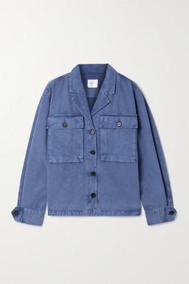 Anine Bing Sawyer Herringbone Cotton Jacket - Blue