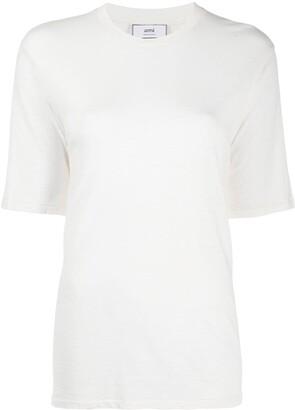 Ami Paris side tab long T-shirt