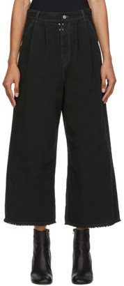 MM6 MAISON MARGIELA Black Denim Wide-Leg Trousers