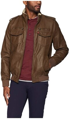 Levi's Two-Pocket Military Bomber with Sherpa Lining (Earth) Men's Clothing