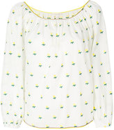 Marc Jacobs rose fil-coupé peasant blouse