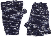 The Elder Statesman Women's Mélange Cashmere Fingerless Gloves-Blue