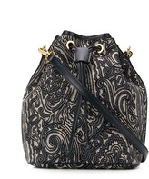 Etro paisley embroidered bucket bag