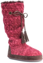 Muk Luks Grace Faux Fur Lined Cuffed Slipper