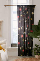 Urban Outfitters Tossed Topical Floral Blackout Curtain