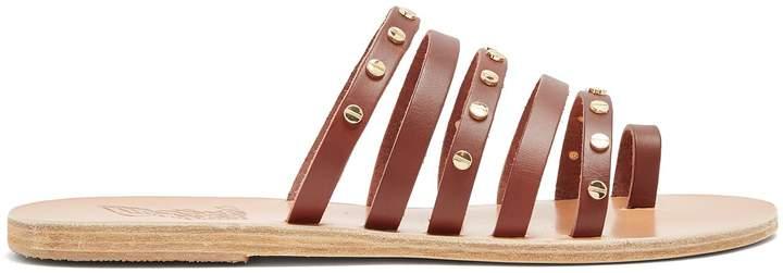 Ancient Greek Sandals Niki Nails embellished leather sandals