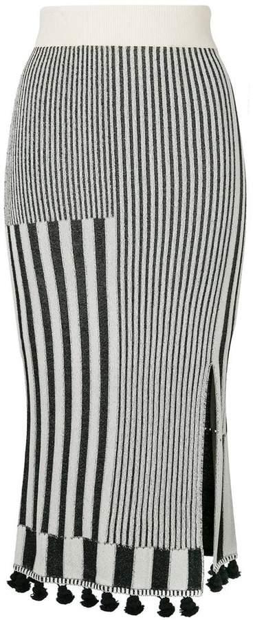 Altuzarra embroidered midi skirt