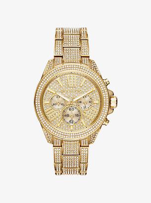 Michael Kors Wren Pave Gold-Tone Watch