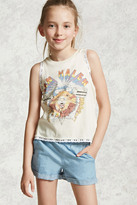 Forever 21 FOREVER 21+ Cuffed Chambray Shorts (Kids)