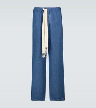 Loewe Wide-leg drawstring jeans