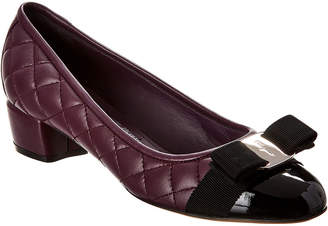 Salvatore Ferragamo Vara Quilted Leather Pump