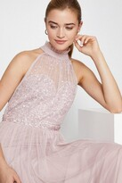 Thumbnail for your product : Coast High Neck Sequin Mesh Maxi Dress