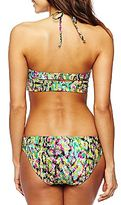 JCPenney Bisou Bisou Snake Print Midkini Underwire Swim Top