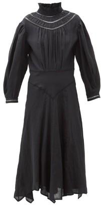 Etoile Isabel Marant Albane Handkerchief-hem Linen Dress - Womens - Black