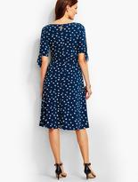 Talbots Dot Tie-Sleeves Dress