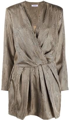 Anine Bing Striped Wrap-Style Dress
