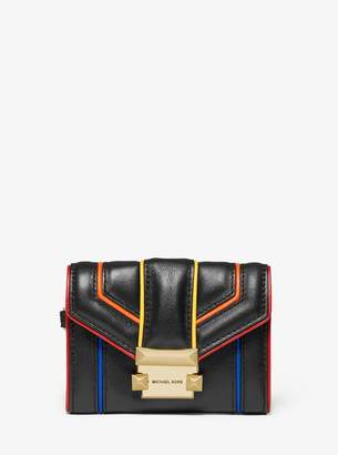 MICHAEL Michael Kors Whitney Small Rainbow Quilted Leather Chain Wallet