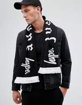 Hype Scarf In Black With Gothic Text