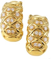 Christian Dior 18K Yellow Gold Diamond Clip-on Earrings