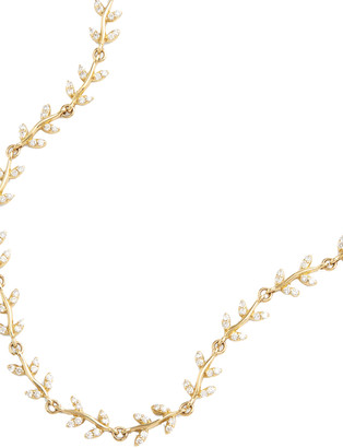 Jamie Wolf Delicate Vine 18K Yellow Gold Diamond Necklace