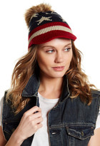 David & Young Americana Faux Fur Knit Hat