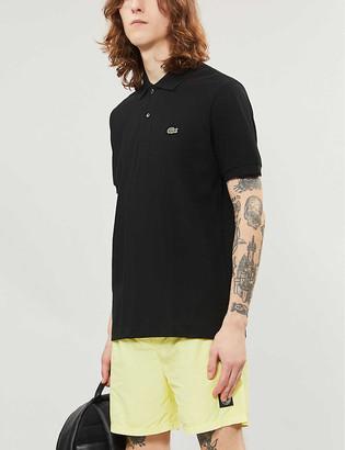 Lacoste Logo-embroidered cotton-pique polo shirt