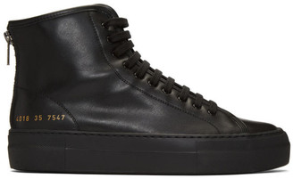 Common Projects Black Tournament High Super Sneakers