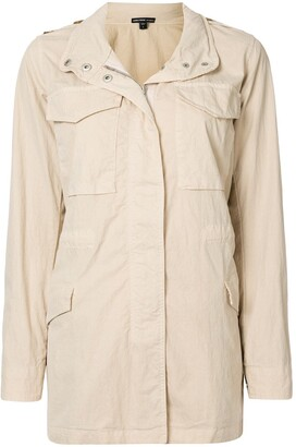 James Perse Concealed Hood Field Jacket