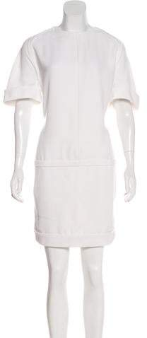 Balenciaga Short Sleeve Shift Dress